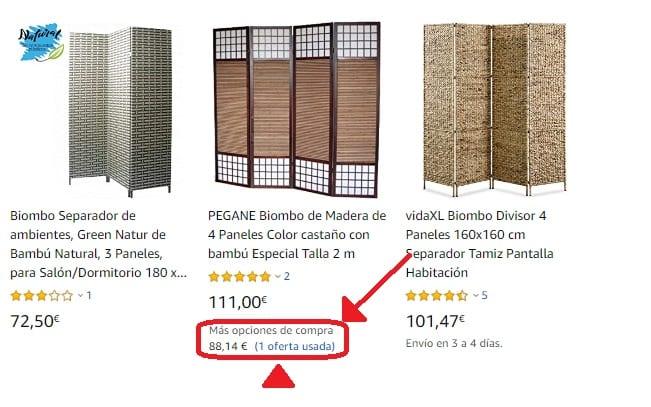 Biombos de Bambú de segunda mano
