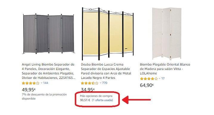 Biombos Ikea de segunda mano