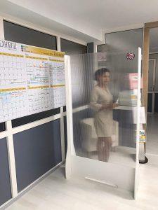 Biombos transparentes tienda